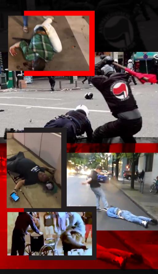 OBRAZ - Bestialskie zachowanie anarchistów
