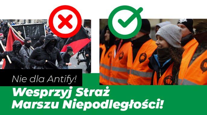 OBRAZ - Straż Marszu vs antifa - co wybierasz?