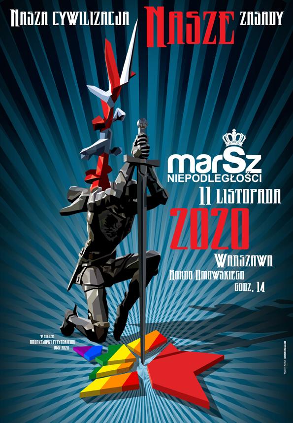 Zobacz plakat XI Marszu Niepodległości: https://marszniepodleglosci.pl/wp-content/uploads/2020/11/MarszNa-4M.jpg